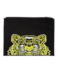 Pochette noire Tiger A4 High Summer edition limitee KENZO pour homme en coloris Black
