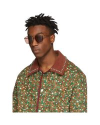 メンズ Gucci ゴールド オーバーサイズ エボリューション サングラス Multicolor