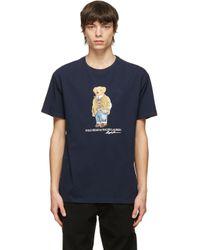 メンズ Polo Ralph Lauren ネイビー Polo Bear T シャツ Blue