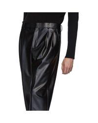 Pantalon en latex extensible noir Alexander Wang pour homme en coloris Black