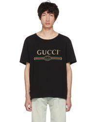Gucci Black Logo T-shirt for men