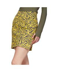 Mini-jupe jaune et brune Zebra Miaou en coloris Yellow