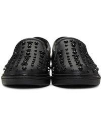 Jimmy Choo - Black Mixed Stars Grove Slip-on Sneakers for Men - Lyst