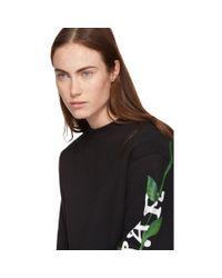 Off-White c/o Virgil Abloh Black Oversized Othelo Flower Sweatshirt