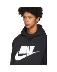 メンズ Nike ブラック Nsw プルオーバー フーディ Black