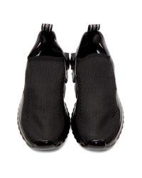メンズ Dolce & Gabbana ブラック メッシュ ソレント メルト スニーカー Black