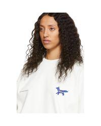 Maison Kitsuné Ader Error Edition ホワイト The Blue Fox スウェットシャツ White