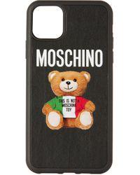 メンズ Moschino ブラック Italian Teddy Bear Iphone 11 Pro Max ケース Black