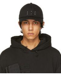 メンズ McQ Alexander McQueen No.0 コレクション ブラック Embroidery キャップ Black