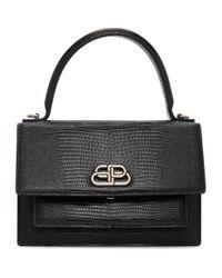 Balenciaga ブラック Xs Sharp サッチェル バッグ Black