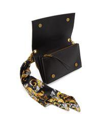 Versace Jeans ブラック フェイクレザー スカーフ ウォレット バッグ Black