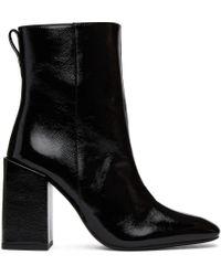 AMI ブラック Heeled Ankle ブーツ Black