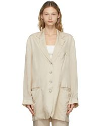 Acne ベージュ Suit Jacket ブレザー Natural