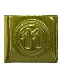 Portefeuille metallise vert Maison Margiela pour homme en coloris Green