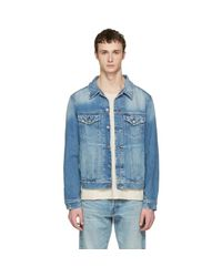 Simon Miller Blue Indigo Denim Sobo Jacket for men