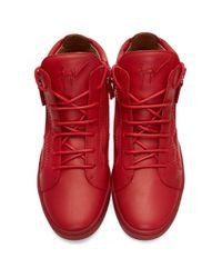 Giuseppe Zanotti Red Brek High-top Sneakers for men