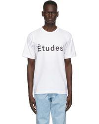 メンズ Etudes Studio ホワイト Wonder T シャツ White