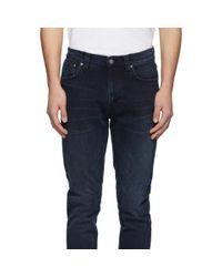 メンズ Nudie Jeans インディゴ Lean Dean ジーンズ Blue