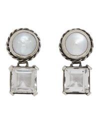 Sophie Buhai Multicolor Silver Firenze Pearl Earrings