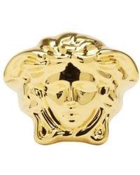 Versace - Metallic Gold Large Medusa Ring for Men - Lyst