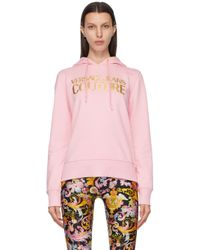 Versace Jeans ピンク ロゴ フーディ Pink