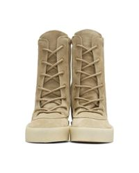 Yeezy Multicolor Taupe Crepe Boots for men