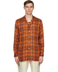 メンズ Bed J.w. Ford オレンジ & パープル Inner Vest シャツ Orange