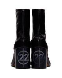 Maison Margiela ブラック プラットフォーム タビ ブーツ Black