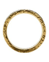 Givenchy - Metallic Gold My Love 4g Band Ring for Men - Lyst