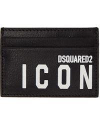メンズ DSquared² ブラック Icon カード ケース Black