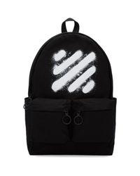 Off-White c/o Virgil Abloh - Black Diagonal Spray Backpack - Lyst