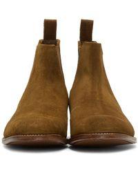 GRENSON Brown Tan Suede Declan Boots for men