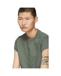 Rick Owens Green Short Level T-shirt for men