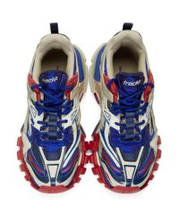Balenciaga Blue And Red Track.2 Sneakers