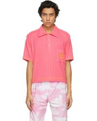 メンズ Phlemuns ピンク ロゴ ポロシャツ Pink