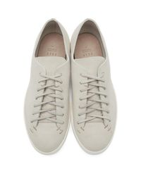 Feit Natural Beige Hand Sewn Sneakers for men