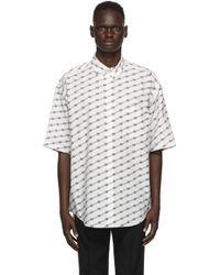 メンズ Balenciaga ホワイト License ラージ フィット ショート スリーブ シャツ White