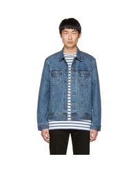 A.P.C. - Blue Indigo Denim Us Jacket for Men - Lyst
