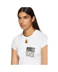 Eckhaus Latta ホワイト Lapped Baby T シャツ White