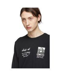 メンズ Off-White c/o Virgil Abloh ブラック モナリザ ロング スリーブ T シャツ Black