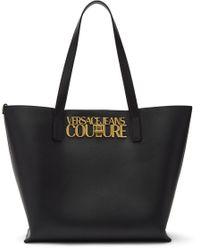 Versace Jeans ブラック Institutional ロゴ ショッピング トート Black