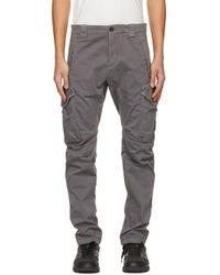 メンズ C P Company グレー Garment Dyed Utility カーゴ パンツ Gray