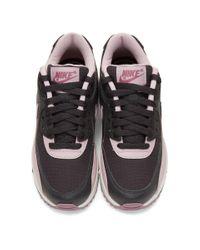 Nike グレー And パープル エア マックス 90 スニーカー Gray