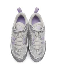 Nike グレー And パープル エア マックス 98 スニーカー Gray