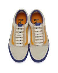 Vans Blue And Orange Old Skool Tlt Lx Sneakers for men