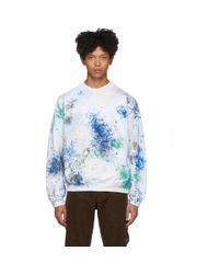 Pull molletonne blanc et multicolore Painted Vintage Sasquatchfabrix pour homme en coloris White