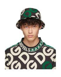 メンズ Dolce & Gabbana ブラック ロゴ バケット ハット Black