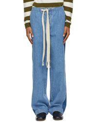 メンズ Loewe ブルー ドローストリング ジーンズ Blue
