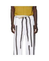 Jean blanc et noir Spray Baggy Eckhaus Latta pour homme en coloris White