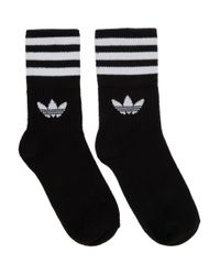 Adidas Originals ブラック ソリッド クルー ソックス 3 足セット Black